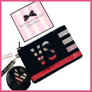 •Victoria's Secret• Sequins Multi color bag trio
